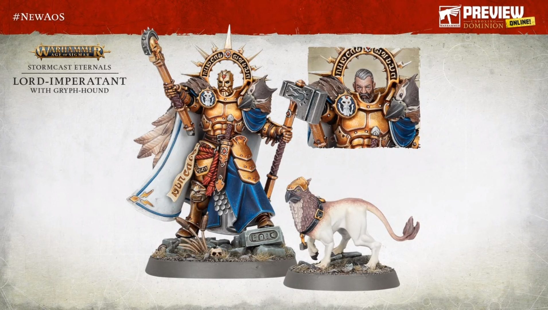 Lord-Imperatant With Gryph-Hound - Warhammer Age Of Sigmar