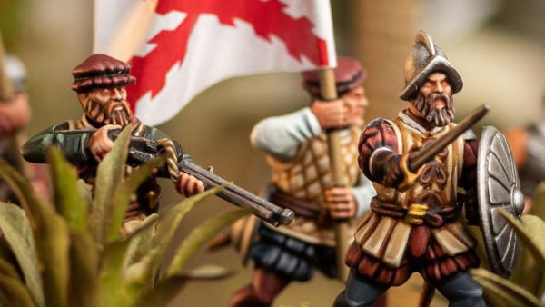 Check Out Wargames Atlantic's Painted Plastic Conquistadors!