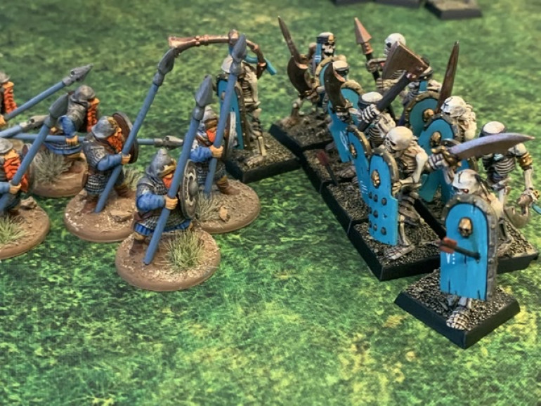 My wizard then boosts my infantry's movement and they surge forward into an undead unit that thought it was safe.