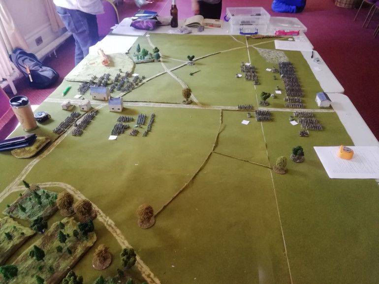 The French begin their advance across the fields