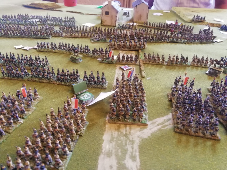 Once in musket range the two sides open fire