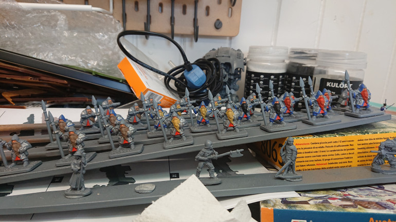 Dwarves WIP, almost halfway with the blue