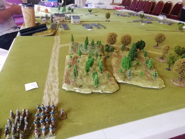 In the British right Dutch and Belgium cavalry race in to help