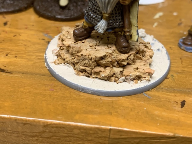 Base render applied. I left a small area behind the tactical rock clear so Horatio could be glued in later.