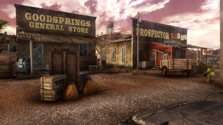 bit of research before I put together some buildings I got from Sarissa that I want to convert from western to post apocalypse. The town of Goodsprings in the game does have a real life counterpart so Im looking at both versions to see where the inspiration came from.