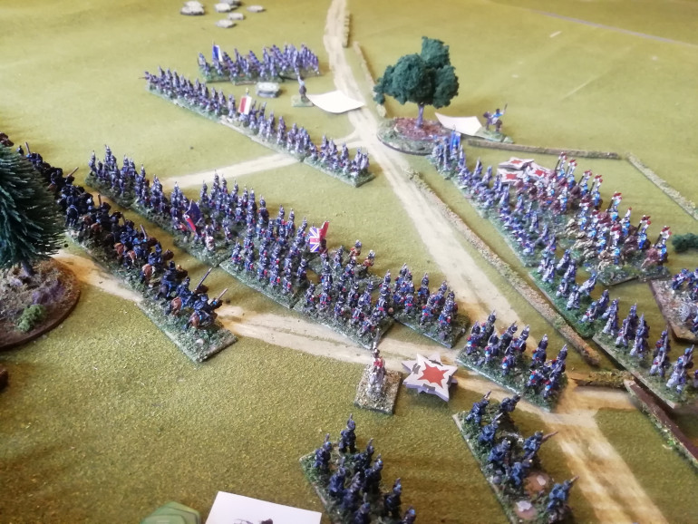 Brunswick Uhlans manoeuvre to take advantage off the sudden damage to the French right.