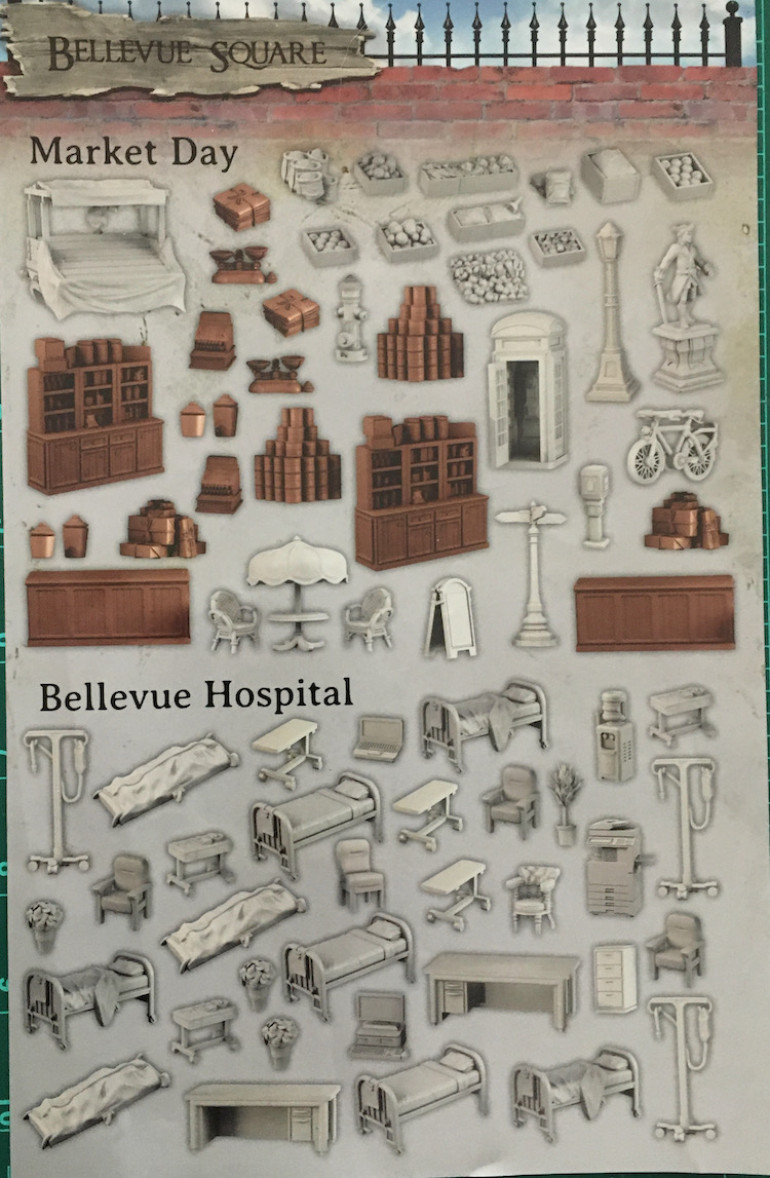 A couple more sets of hospital bits to paint and then onto all those old time cans and packages.  Still looking at reference for those.