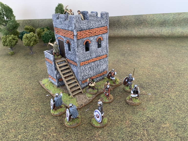 Garcianus and his men occupy a watchtower