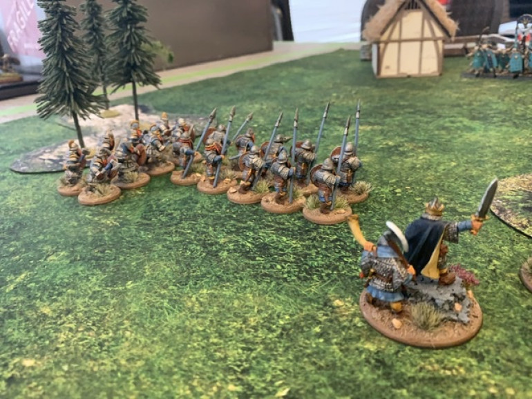 The King and Horatio, another ten dwarf unit of Warriors and a Hearthguard unit.
