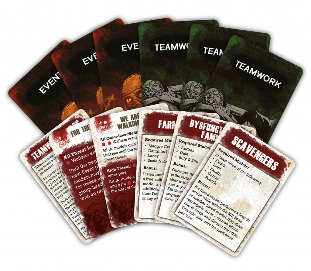 Event & Teamwork Cards - The Walking Dead All Out War