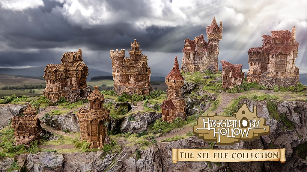 Hagglethorn Hollow STL File Collection - Printable Scenery