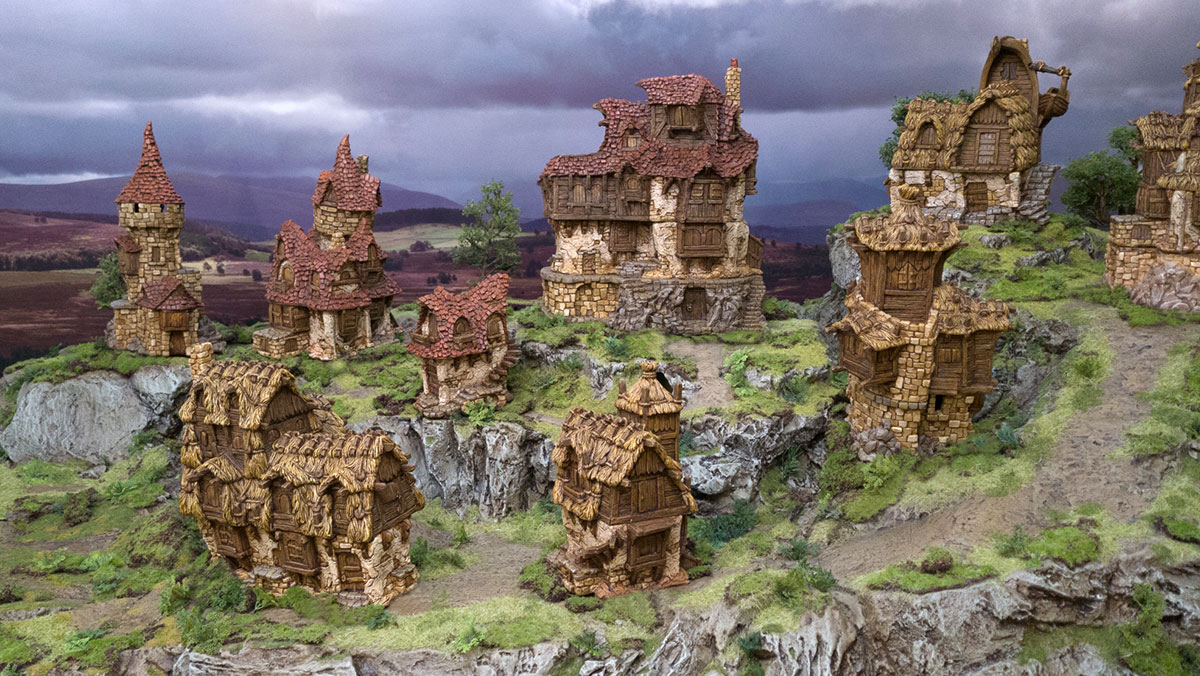 Hagglethorn Hollow Terrain Collection - Printable Scenery