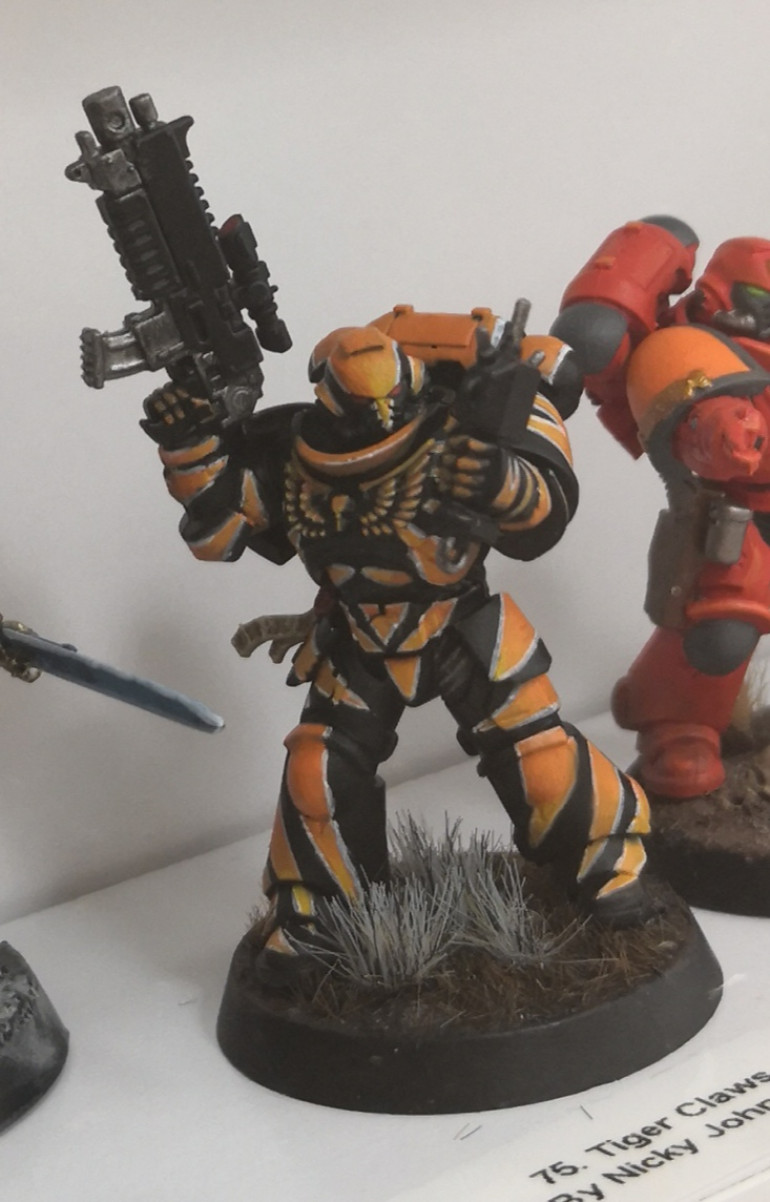 Classic Tiger Claws. Annoyed I missed painting these.
