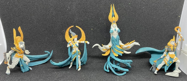 Human sized models painted