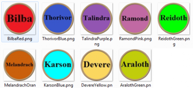 Player colours