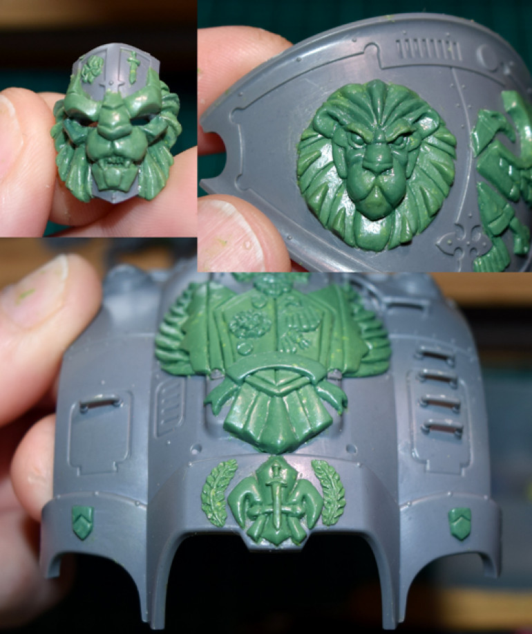 Finishing the sculpting...