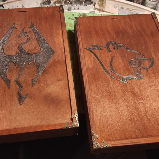 Skyrim themed dicetray/-box - FINISHED