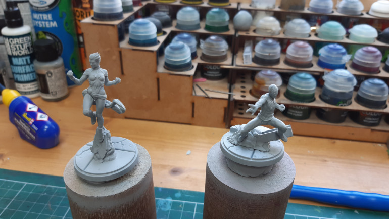 Captain marvel and Spiderman primed