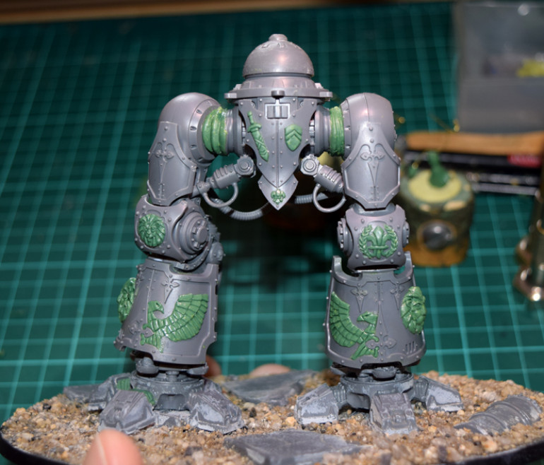 Doing a test-fit of the armour plates...