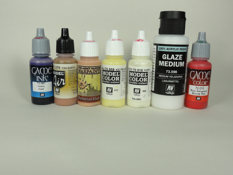 Paints and mediums used so far