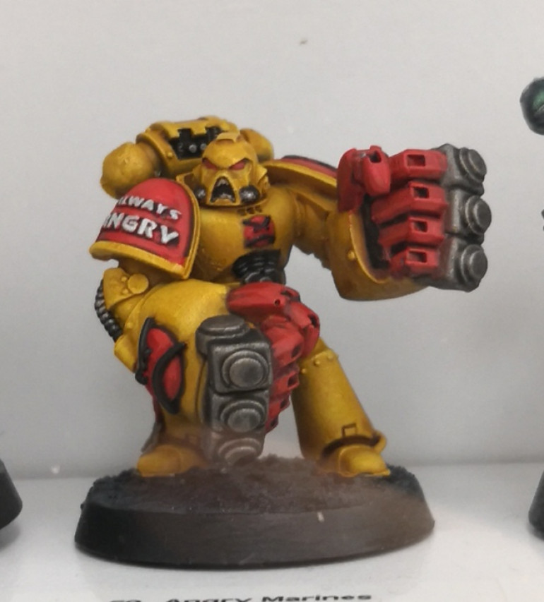 Angry Marines! One of the committee was sponsored to paint this dude. Cracking job.