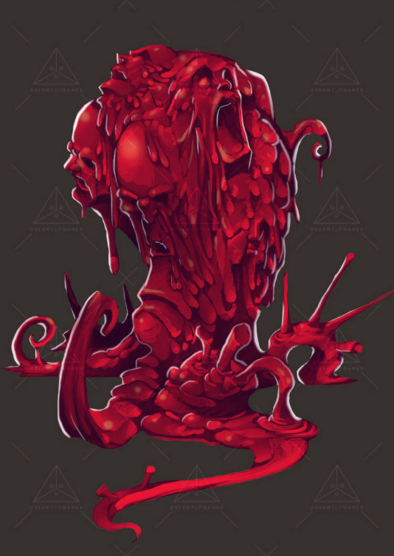 Red cloning slime thing