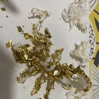 First results with gold leaf