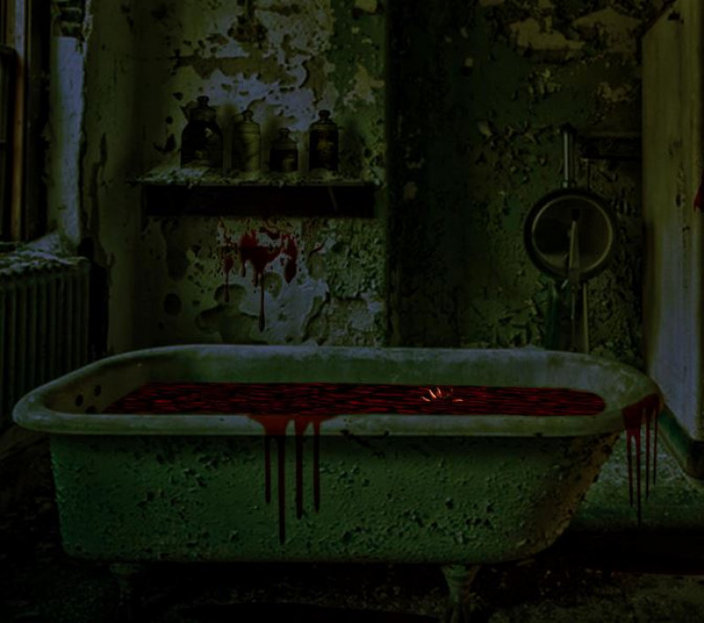 I couldn't find a suitable picture of a spooky ro filthy bath.  I did find out theres a death metal band called