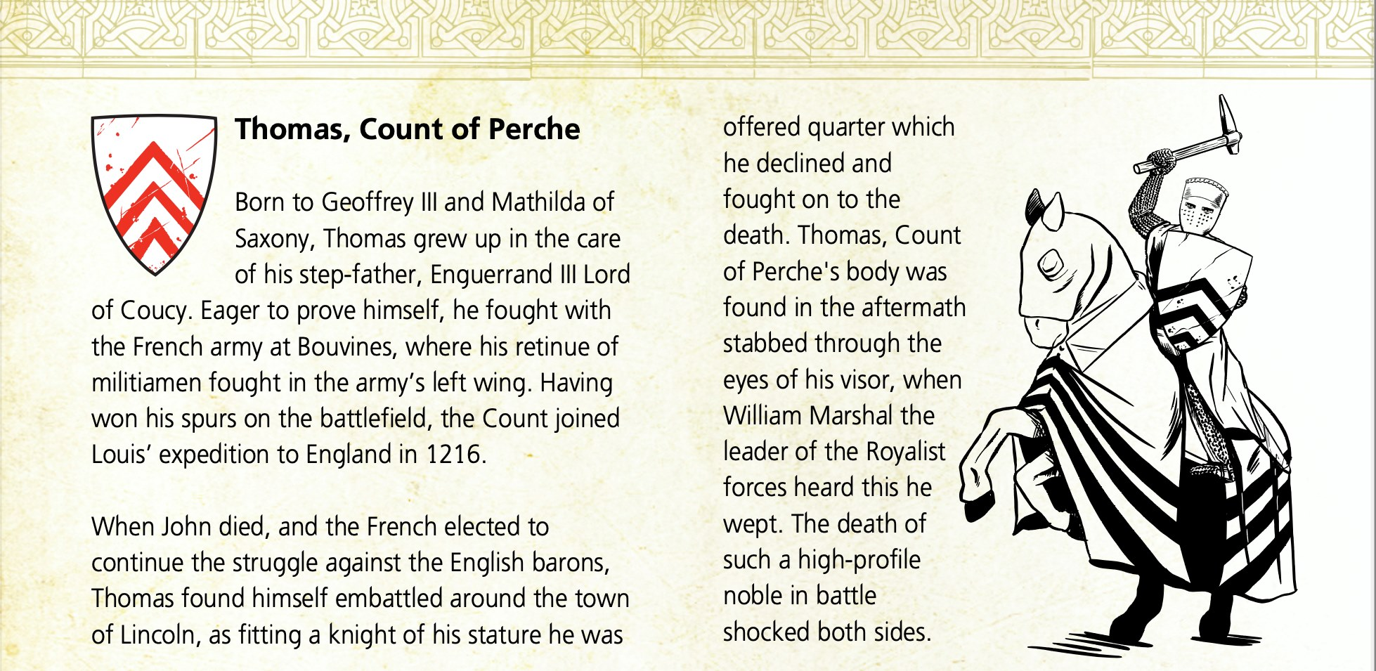 Count Of Perche Background - The Barons War