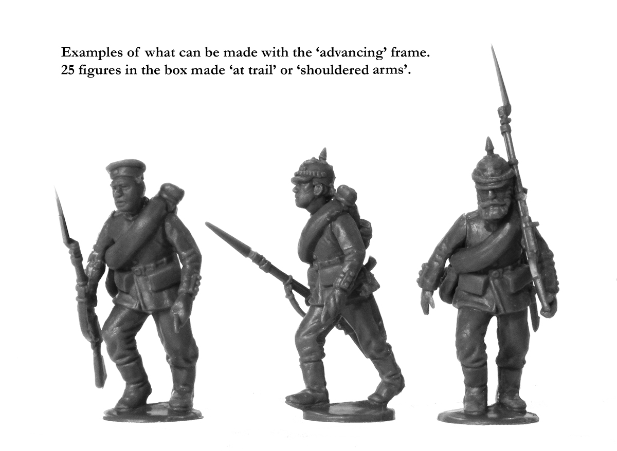 Prussian Infantry Advancing Miniatures - Perry Miniatures