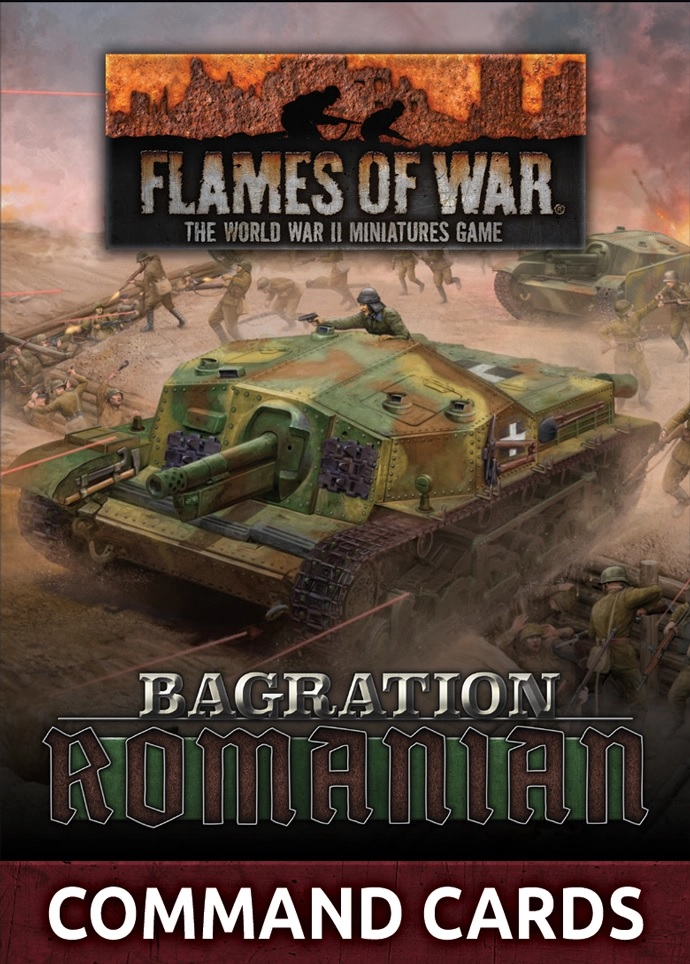 Romanian Command Cards - Flames Of War