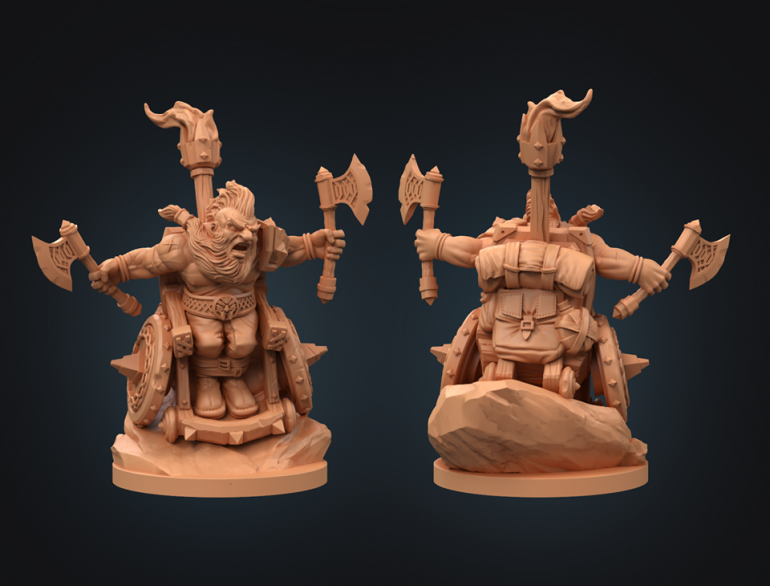 TheHobbyLodge Paints Up A Superb Strata Miniatures Dwarf Barbarian!
