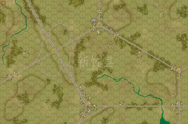 Here is the map for today's game (Panzer Leader / Tactical Combat Middle East - with new units created by myself)