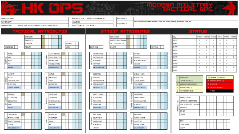 A blank character sheet.  Note the formatting is LANDSCAPE for best on-screen play (as opposed to A4 / 8.5 x 11 portrait for print-out).