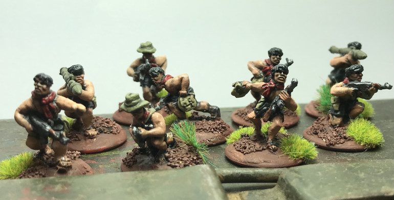 Group of NVA sappers from britania miniatures