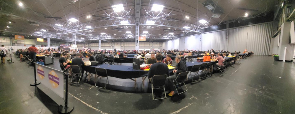 It May Be Sunday - But the Open Gaming Area is Popping!