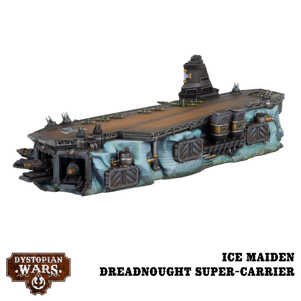 Ice Maiden Dreadnought Super-Carrier - Dystopian Wars