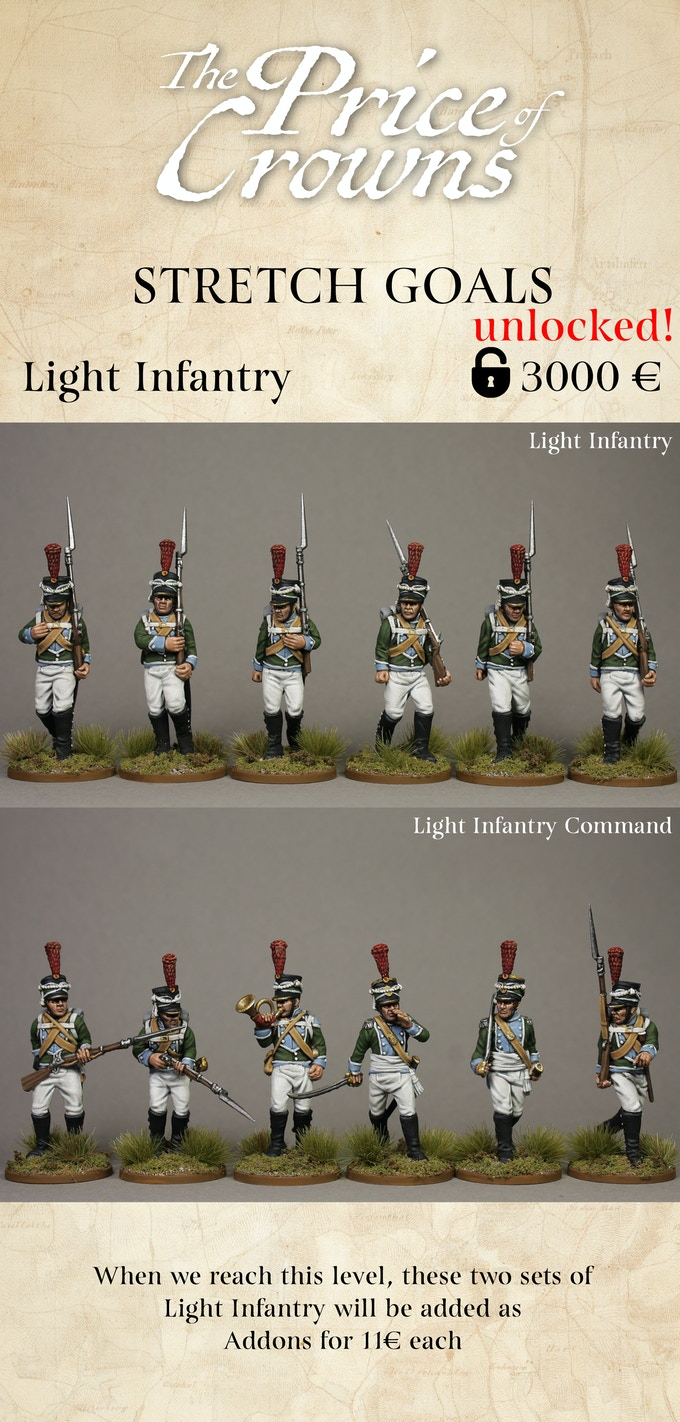 Light Infantry Stretch Goal - Piano Wargames