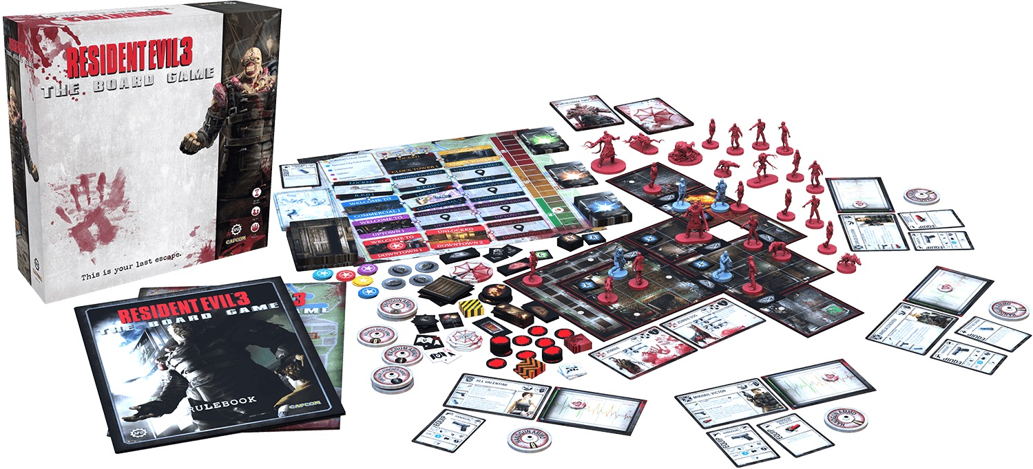 Resident Evil 3 - The Board Game Components - Steamforged Games