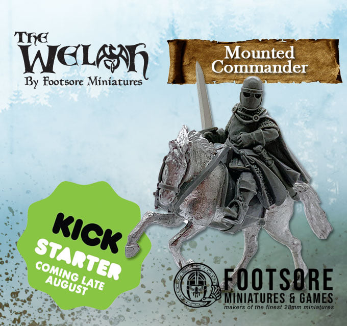 The Welsh Mounted Commander - Footsore Miniatures