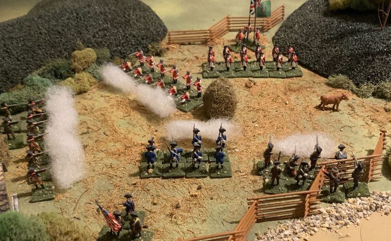 The Patriot left, which is trying to shoot up the Crown right.