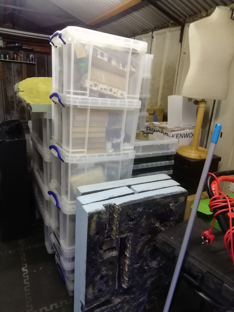 I keep most of my scenery and little men in plastic boxes so it was easy to move them but we did require two removal vans