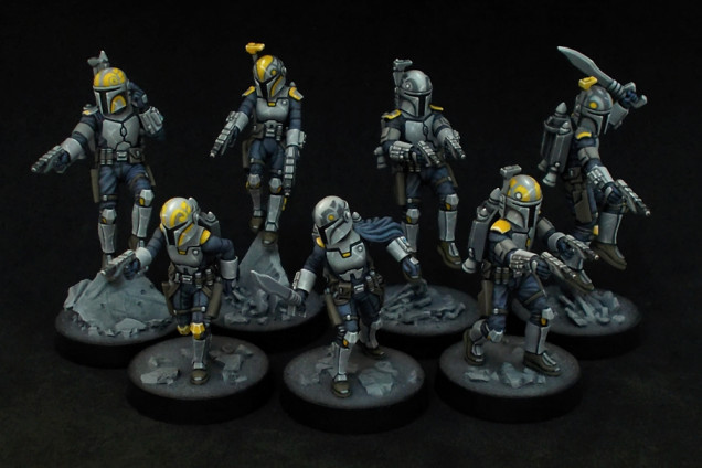 Seven more Clan Wren Mandalorians are finally painted