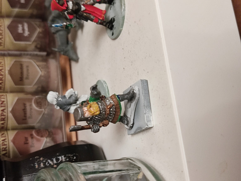 Dwarf cleric from crusader minitures still have basing to do