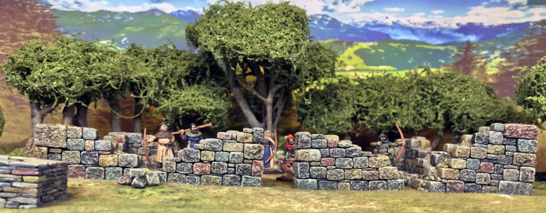 Robin Hood and his Merrymen hiding in the Ruins
