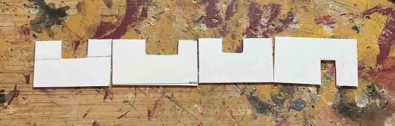 I cut out some pannels for the walls from plasticard scraps