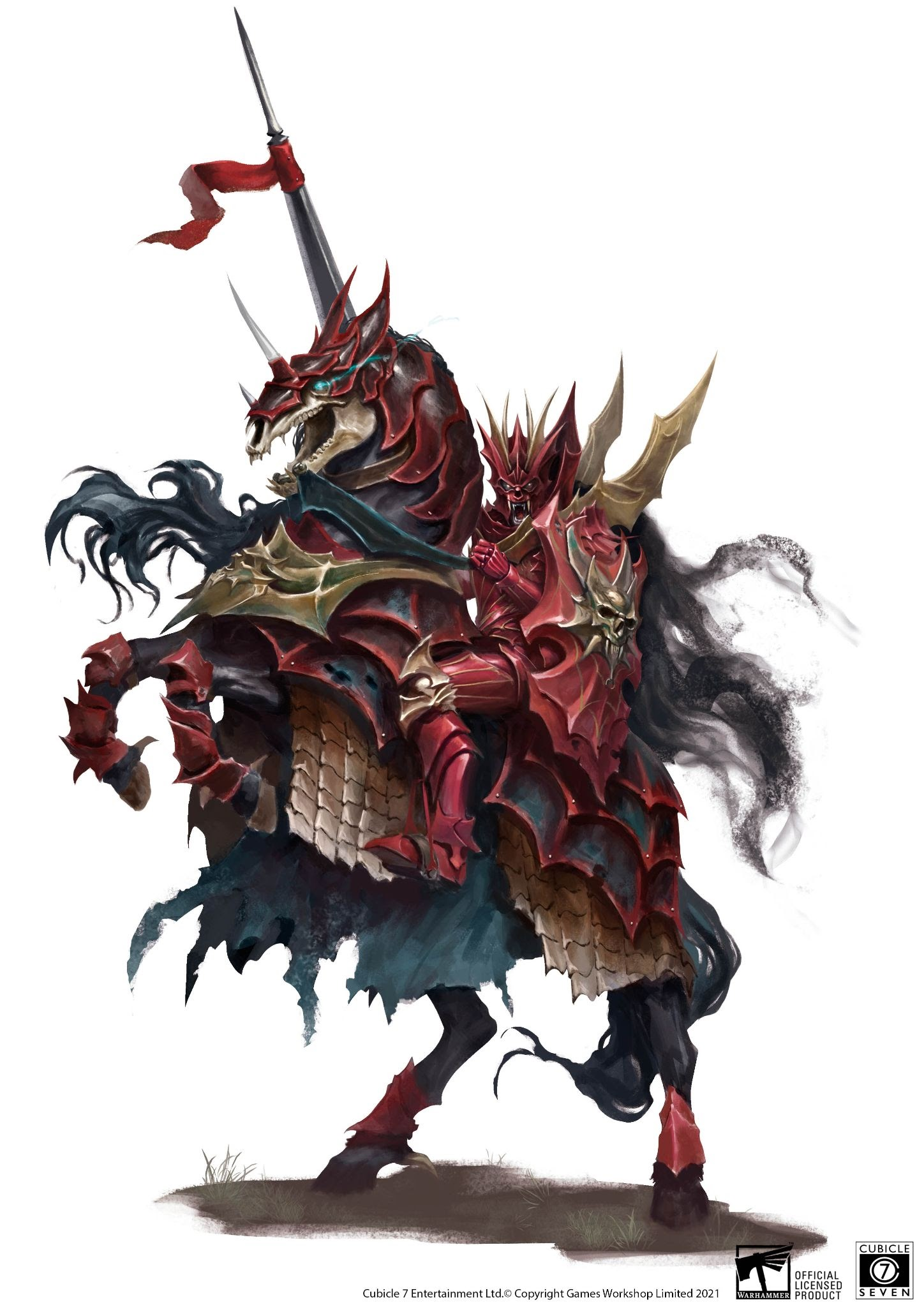 Blood Knight Art - Age Of Sigmar Soulbound