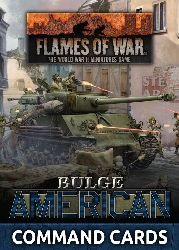 Bulge American Command Cards - Flames Of War