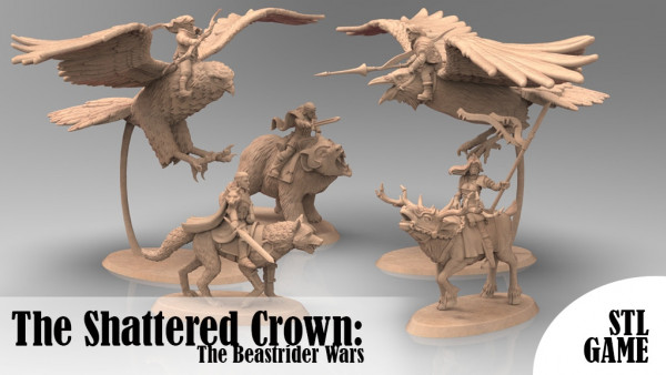 Print & Play The Beastrider Wars Of The Shattered Crown