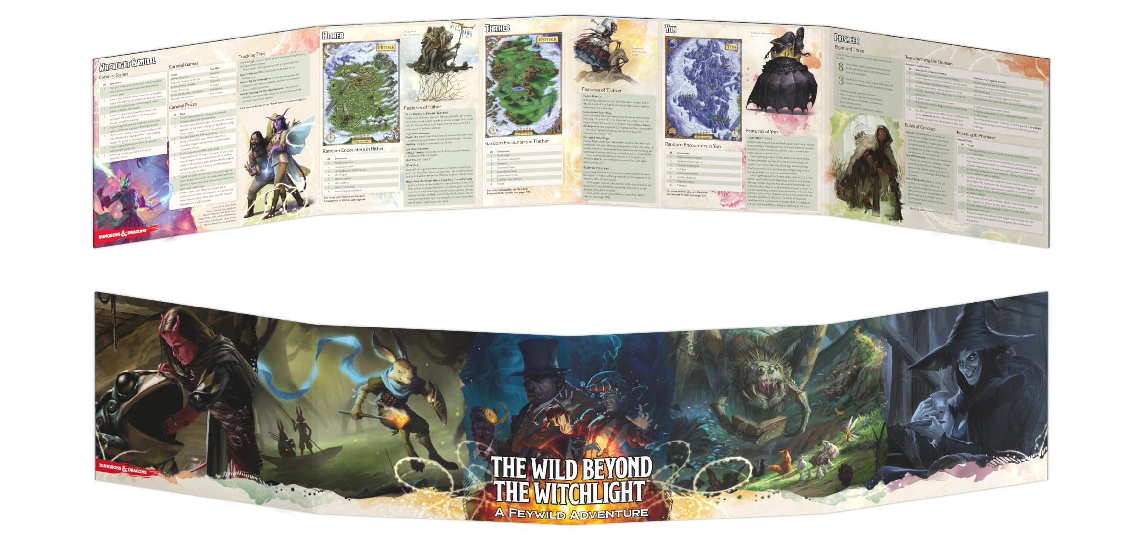 The Wild Beyond The Witchlight DM Screen - Gale Force Nine